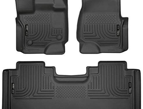 Husky Liners Fits 2015-19 Ford F-150 SuperCab Weatherbeater Front & 2nd Seat Floor Mats