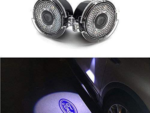 Cszlove 2pcs Car Door LED Logo Puddle Lighting Side Mirror Projector Ghost Shadow Lights Courtesy Step Welcome Projector Lamps for Ford Series