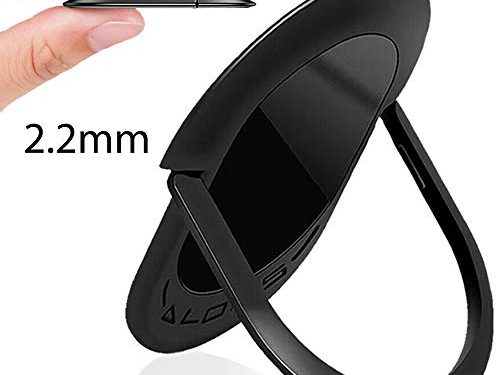 Cell Phone Ring Holder,Finger Ring Stand Universal 360 Degree Rotation Super-Thin Ring Grip for Magnetic Car Mount, All Smartphones and Tablets.