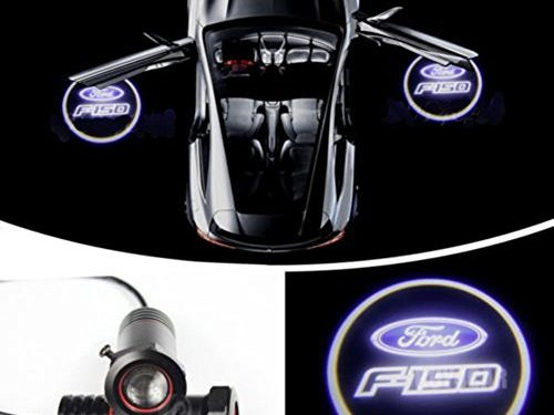 Cszlove LED Projection Logo Ghost Shadow Car Door Welcome Light DIY Step Light Symbol Sign Badge for FORD F150-1 Pair