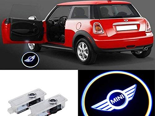 2 Pcs Door Light Car Vehicle Ghost LED Courtesy Welcome Logo Light Lamp Shadow Projector For Mini Cooper R55 R56 R57 R58 R59 R60 R61 F55 F56 F57 2 Pcs