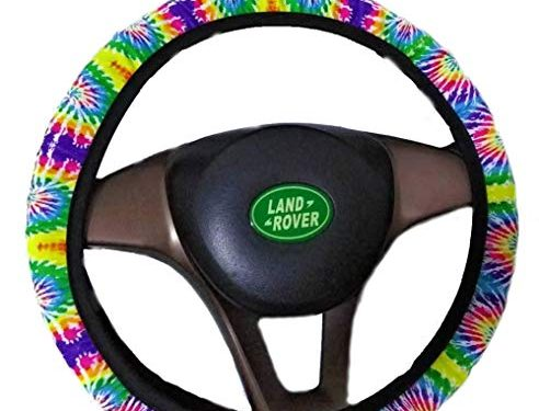 Bling Buy Handmade Tie Dyeing Steering Wheel Cover-Stretch-on Fabric Steering Wheel Cover Universal Fit