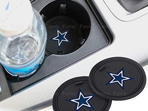 2 Pack 2.75 inch for Oakland Raiders Car Interior Accessories Anti Slip Cup Mat for All Vehicles Dallas Cowboys