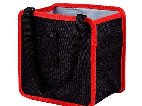 Detool Car Trash Can Hanging Garbage Bag Organizer 1.85 Gallon Waterproof Wastebasket Black with Oxford Cloth Durable Surface