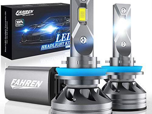 Fahren H11/H9/H8 Bulbs, 60W 10000 Lumens Super Bright LED Waterproof Headlights Conversion Kit 6500K Cool White IP68