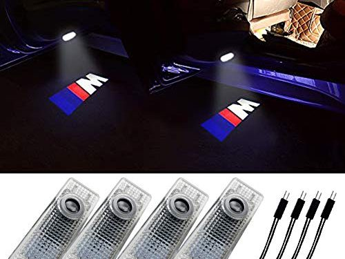 Grolish BMW Accessories Car Door LED Logo Lighting Projector Welcome Lights For BMW M 4-Pack