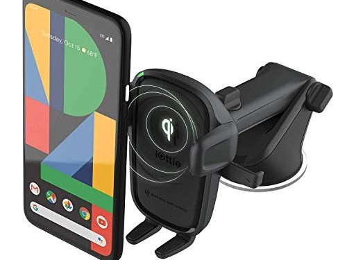 iOttie Wireless Car Charger Easy One Touch Wireless 2 Qi Charging Dashboard Phone Mount for iPhone, Samsung Galaxy, Huawei, LG, Smartphones