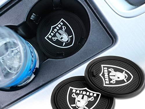 2 Pack 2.75 inch for Oakland Raiders Car Interior Accessories Anti Slip Cup Mat for All Vehicles for Oakland Raiders