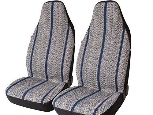West Coast Auto Baja Blanket Bucket Seat Cover for Car, Truck, Van, SUV – Airbag Compatible 2PCS Blue