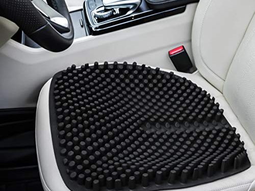 Gel Seat Cushion Pads for Car Office Chair Truck Wheelchair 18 by 18 inch Black