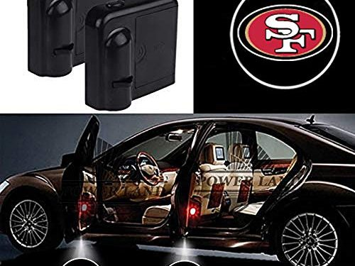 For San Francisco 49ers Car Door Led Welcome Laser Projector Car Door Courtesy Light Suitable Fit for all brands of cars San Francisco 49ers