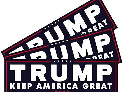 3pcs President Donald Trump Keep America Great 2020 Election Patriotic Bumper Sticker Decal 9×3 Inch Car Auto Decal Conservative Republican Blue