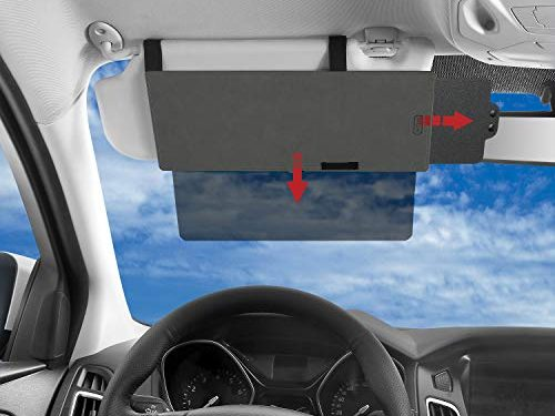SAILEAD Polarized Sun Visor Sunshade Extender for Car with Polycarbonate Lens, Anti-Glare Car Sun Visor Protects from Sun Glare, Snow Blindness, UV Rays, Universal for Cars, SUVs