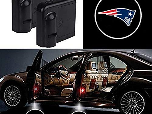 For New England Patriots Car Door Led Welcome Laser Projector Car Door Courtesy Light Suitable Fit for all brands of carsNew England Patriots