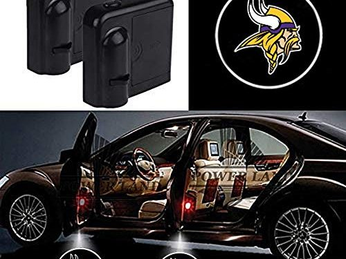 For Minnesota Vikings Car Door Led Welcome Laser Projector Car Door Courtesy Light Suitable Fit for all brands of carsMinnesota Vikings