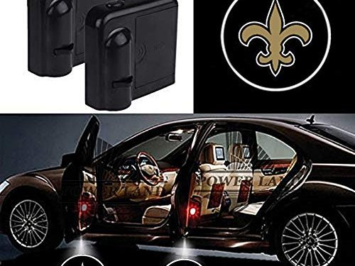 For New Orleans Saints Car Door Led Welcome Laser Projector Car Door Courtesy Light Suitable Fit for all brands of carsNew Orleans Saints