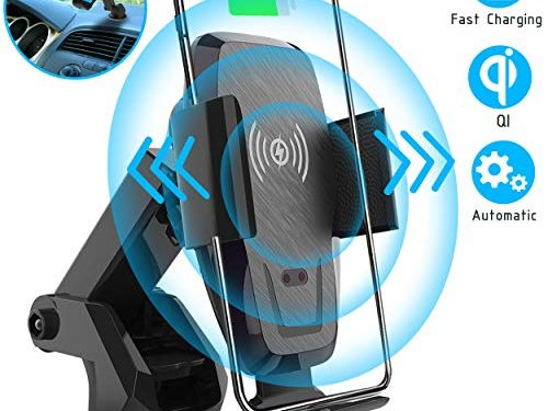 Iotton Wireless Car Charger, Auto-Clamp 10W/7.5W Qi Fast Charging Car Mount, Windshield Dash Air Vent Phone Holder Compatible iPhone 11/11 Pro/11 Pro Max/XS/XS Max/X/8/8+, Samsung Note10/S10/S10+/S9