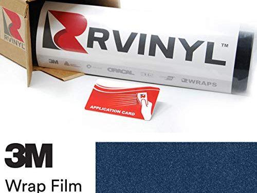 3M 1080 G217 Gloss DEEP Blue Metallic 4in x 6in Sample Size Vinyl Vehicle Car Wrap Film Sheet Roll