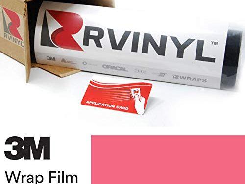 3M 1080 G103 Gloss HOT Pink 5ft x 1ft W/Application Card Vinyl Vehicle Car Wrap Film Sheet Roll
