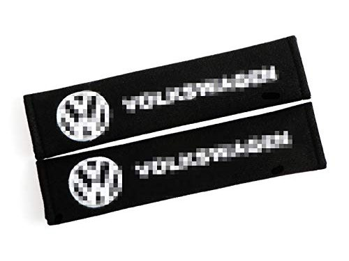 QZS Car Brand Seat Belt Shoulder Pads Strap Covers Cushion 1 Pair for Volkswagen Car