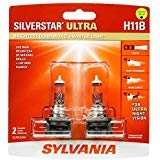 High Performance Halogen Headlight Bulb, High Beam, Low Beam and Fog Replacement Bulb, Brightest Downroad with Whiter Light, Tri-Band Technology Contains 2 Bulbs – SYLVANIA – H11B SilverStar Ultra