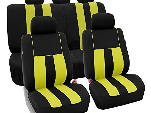 FH Group FB036YELLOW115 Seat Cover Airbag Compatible and Split Bench Yellow