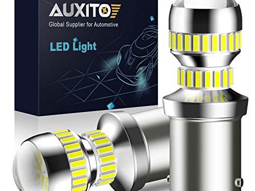 AUXITO 2600 Lumens 1156 LED Bulbs BA15S P21W 7506 LED Light Bulbs Replacement for Backup Reverse Light Bulb Tail Light 6000K White