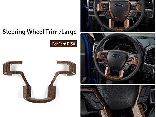 Voodonala Wood Grain Steering Wheel Decorative Trim Car Steering Wheel Cover for 2015 2016 2017 Ford F150 F250 F350 Super Duty