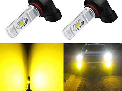 3000K Amber Yellow – Alla Lighting 3800lm Xtreme Super Bright 9006 LED Bulbs Fog Light High Illumination ETI 56-SMD LED 9006 Bulb HB4 9006 Fog Lights Lamp Replacement