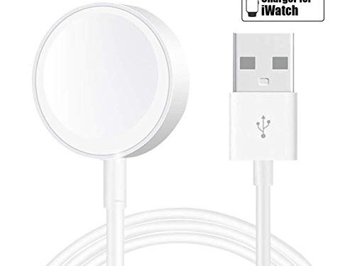 Smart Watch Charger for iWatch Charging Cable Cord for Apple Watch Magnetic Wireless Charging Pad for 44mm/42mm/40mm/38mm Support for iWatch Series 4/3/2/1