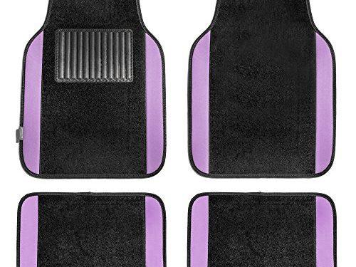 FH Group F14407PURPLE Premium Full Set Carpet Floor Mat Sedan and SUV with Driver Heel Pad Purple
