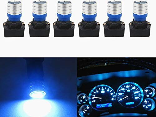 WLJH W5W 194 T10 Led Bulb PC195 PC194 PC168 Twist Socket Dashboard Instrument Cluster Interior Lights Map Dome Light Bulbs Dash Lights 12V Extremely Bright Ice Blue,Pack of 6