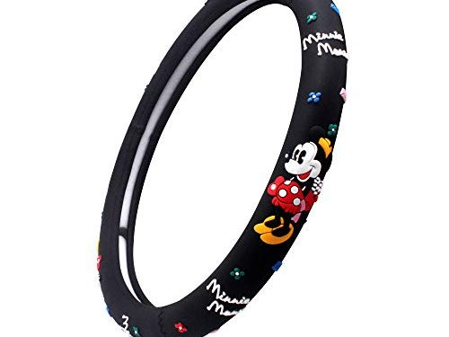 Finex Silicone Minnie Mouse Auto Car Steering Wheel Cover – Black – Universal Fit