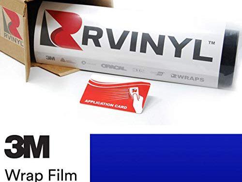 3M 1080 G377 Gloss Cosmic Blue 5ft x 1ft W/Application Card Vinyl Vehicle Car Wrap Film Sheet Roll