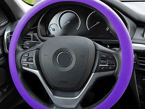 FH Group FH3001PURPLE Purple Steering Wheel Cover Silicone Snake Pattern Massaging grip in Color-Fit Most Car Truck Suv or Van