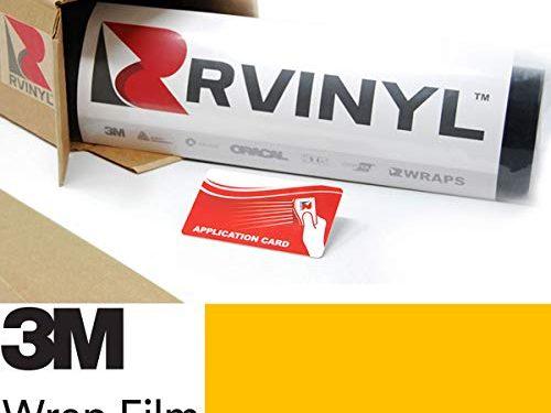 3M 2080 G15 Gloss Bright Yellow 5ft x 1ft W/Application Card Vinyl Vehicle Car Wrap Film Sheet Roll