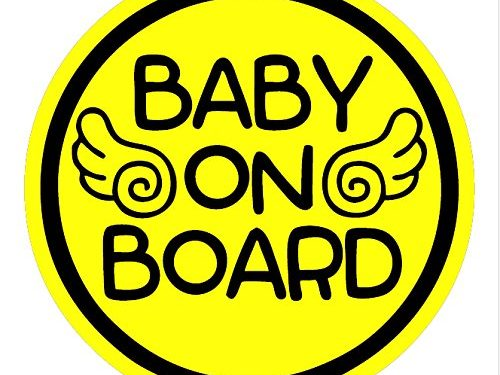 Safety Caution Decal Sign Magnets for Cars Bumpers – Baby Angel ALI-024 – TOTOMO Baby on Board Magnet
