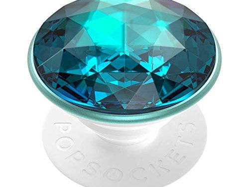 PopSockets: PopGrip with Swappable Top for Phones & Tablets – Disco Crystal Blue