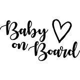 Cute Baby On Board Vinyl Decal Sticker 6″x3″ White
