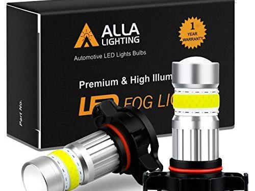 Alla Lighting 2800lm PSX24W 2504 LED Lights Bulbs 6000K Xenon White Xtreme Super Bright COB-72 12V Car Fog Light Replacement 12276