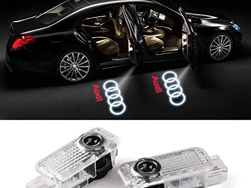 For Audi various series and door LED Lighting Entry Ghost Shadow Projector Welcome Lamp Logo Light for Audi Series 2 pack