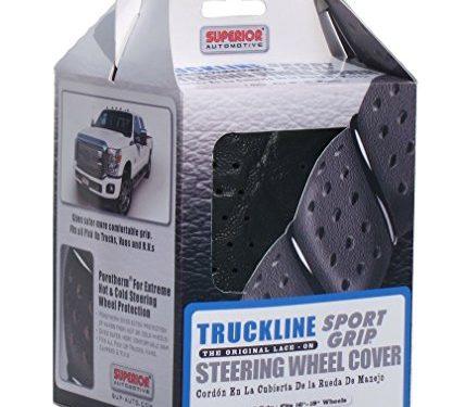 Superior 58-0470B Truckline Sport Grip Steering Wheel Cover, Black