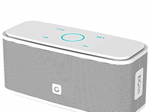 DOSS SoundBox Bluetooth Speaker, Portable Wireless Bluetooth 4.0 Touch Speakers with 12W HD Sound and Bold Bass, Handsfree, 12H Playtime for Phone, Tablet, TV, Gift IdeasWhite