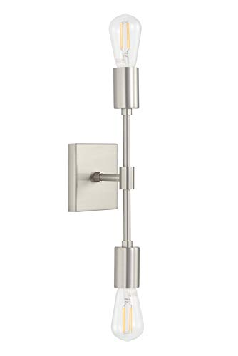 Top 10 2-Light Vanity Light, Bathroom Wall Sconce Fixture Brushed Nickel – Wall Sconces