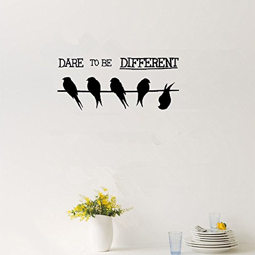 Top 9 Dare to Be Different – Wall Stickers & Murals