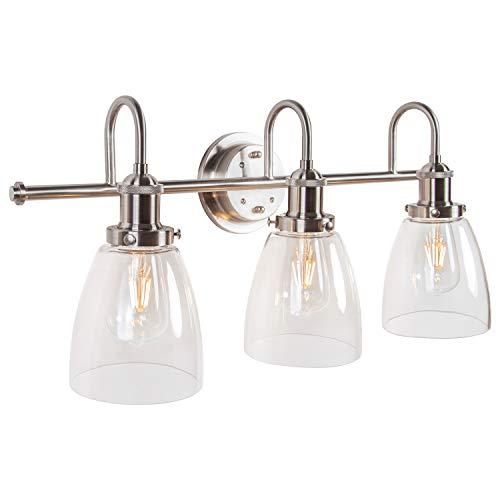 Top 10 Bathroom Lighting Fixtures Over Mirror – Fixture Replacement Globes & Shades