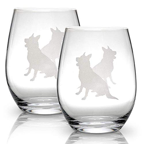 Top 10 German Shepherd Gifts – Wine Glasses