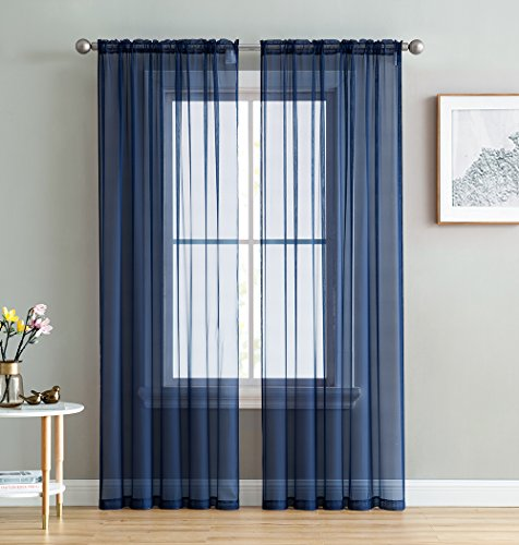 Top 10 Navy Blue Sheer Curtains – Window Curtain Panels