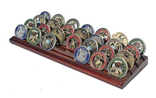 Top 9 Challenge Coin Display Holder – Slotted Display Stands