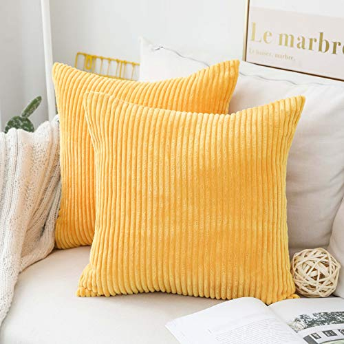 Top 10 Yellow Pillow Covers 18×18 – Throw Pillow Covers